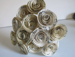 Sheet Music Paper Flowers for Centerpiece, Musical Theme Decor