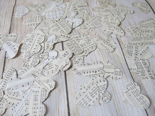 200 Piece Vintage Music Hearts Confetti