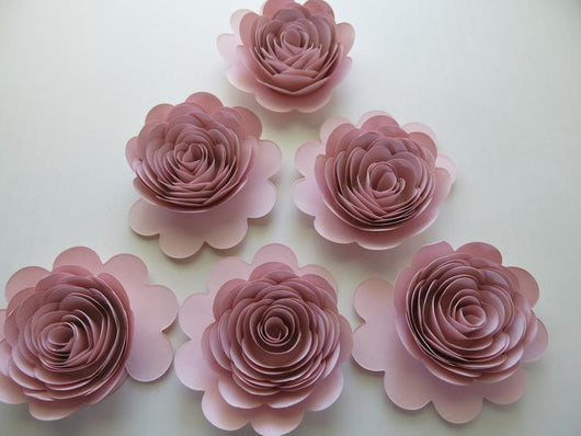 Set of 6 Blush Pink Roses, 3