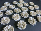 Scalloped Book Page Paper Flowers 1.5 Inch Roses Vintage Literary Theme