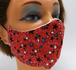 Tiny Stars Washable Cloth Face Mask, Reusable Cotton Facial Cover Travel Mask