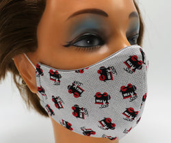 Train Engine Print Washable Cloth Face Mask, Reusable Cotton Facial Cover Travel