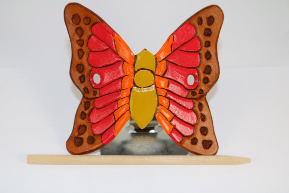 Leather Barrette - Butterfly