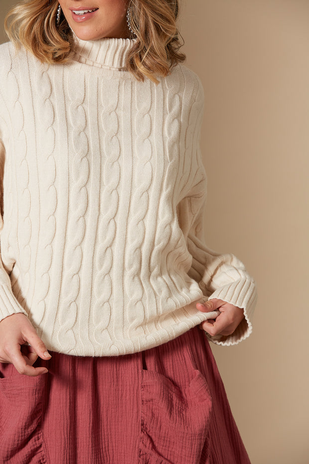 Clarity Cable Knit | Creme