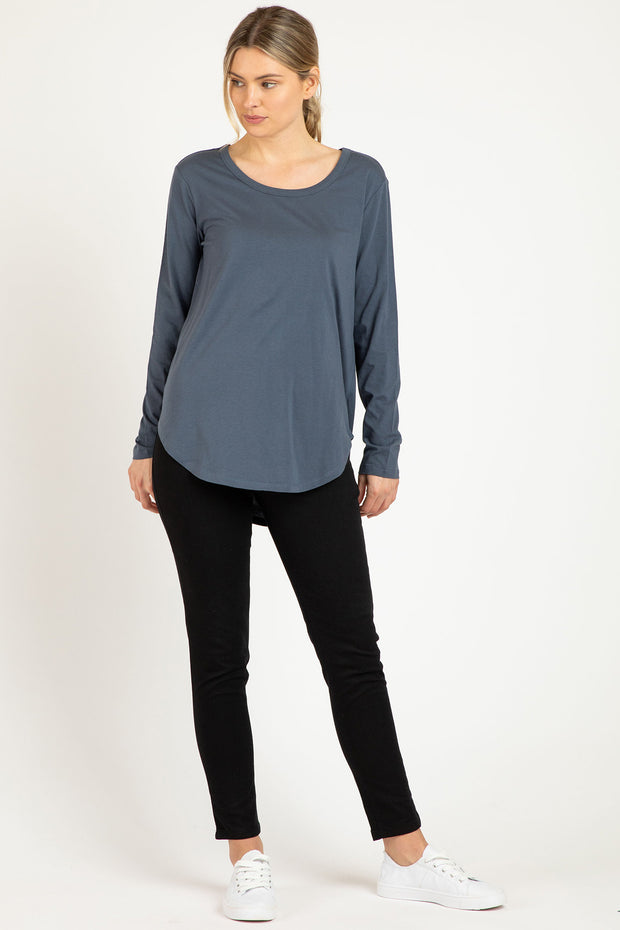 Megan Long Sleeve Top | Indi Blue