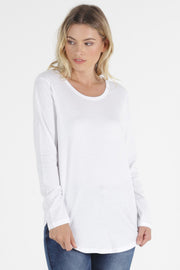 Megan Long Sleeve Top | White