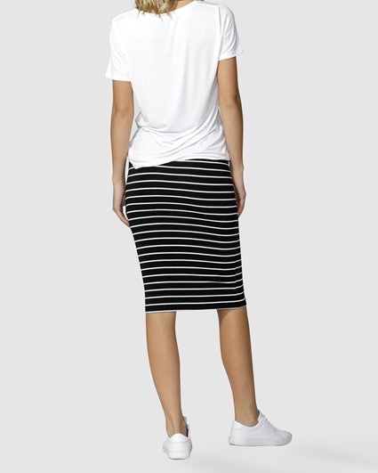 Alicia Midi Skirt | Stripe