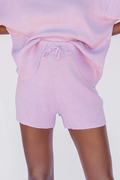 The Lullaby Club // Alex Knit Shorts | Periwinkle