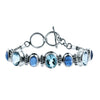 Night Sky Blue Topaz and Kyanite Bracelet