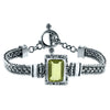 Emerald Cut Lemon Quartz Woven Bracelet