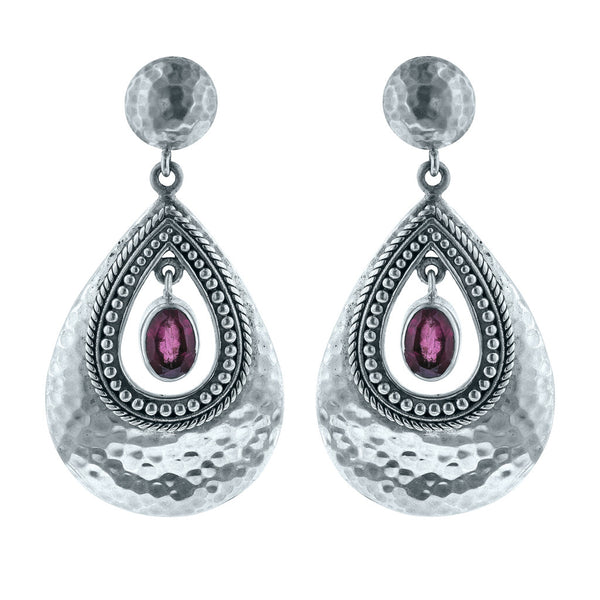 Paradise Pink Tourmaline Pear Drop Earrings