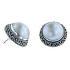 Button Mabe Pearl Earrings - Two Sizes