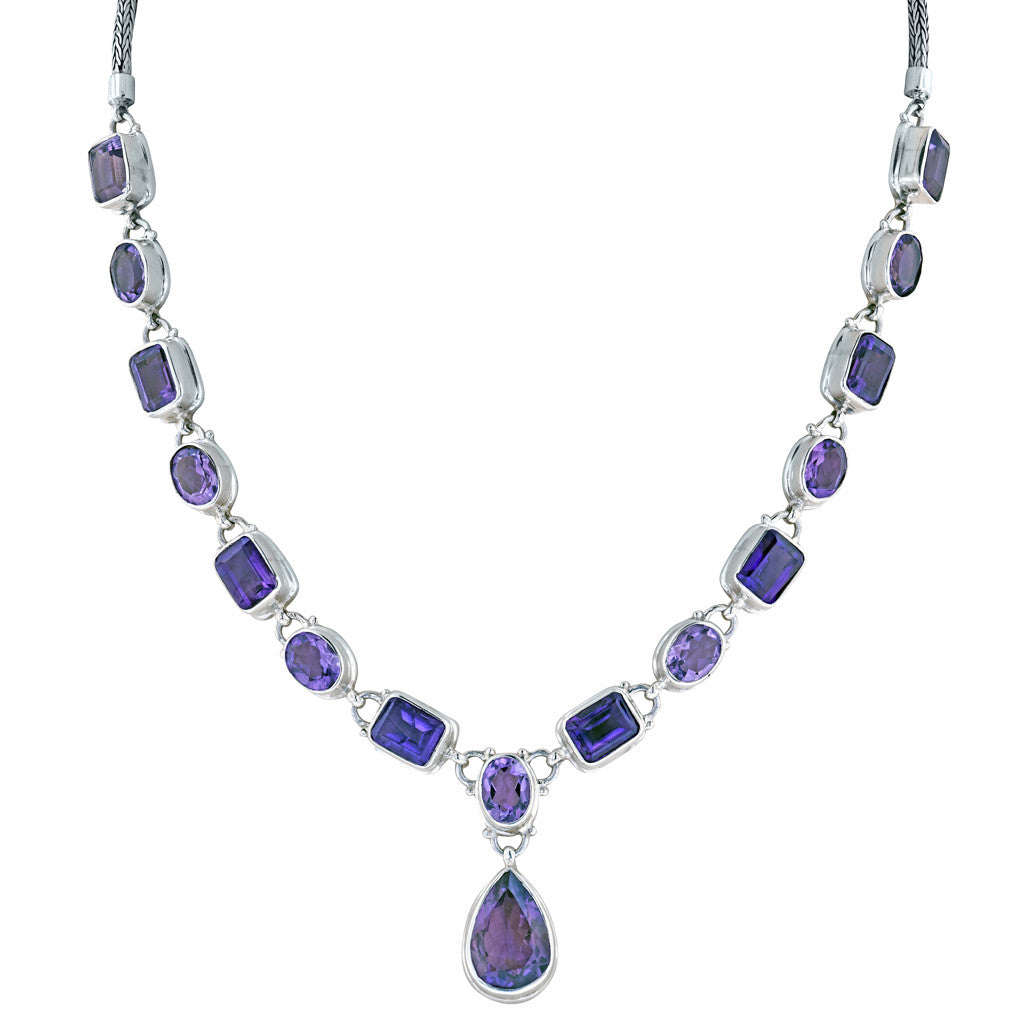 Dripping in Amethysts Necklace