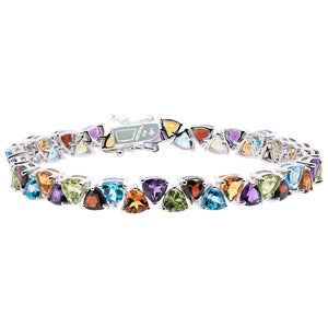 Multi Gemstone Trillion Bracelet