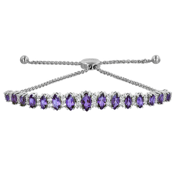Marquise Gemstone Bolo Bracelet - More Colors
