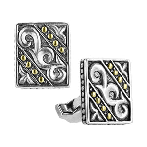 Filigree Two Tone Cufflinks