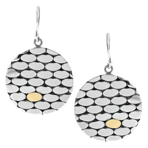 Geometric Sterling Silver Bubble Dangle Earrings