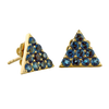 Petite Gemstone Triangle Stud Earrings - More Colors