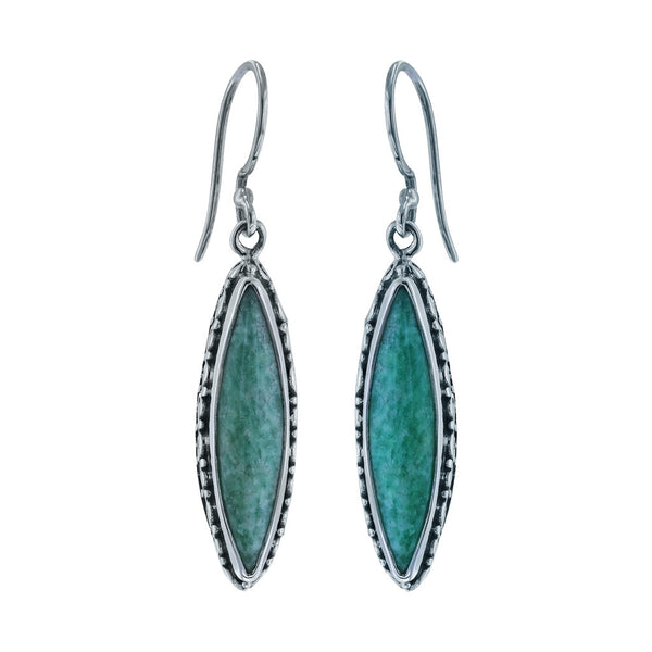 Elongated Marquise Amazonite Earrings