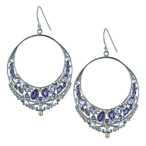 Shades of Amethyst Hoop Earrings