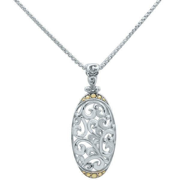 Open Filigree Pendant on Chain
