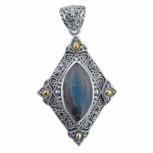 Marquise Gemstone Pendant - More Colors