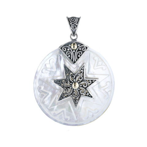 Mother of Pearl Pendant with Star - More Colors