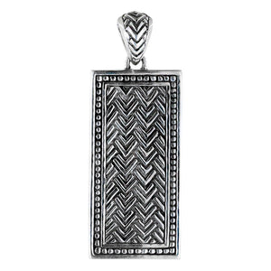 Chevron Pattern Dog Tag Pendant