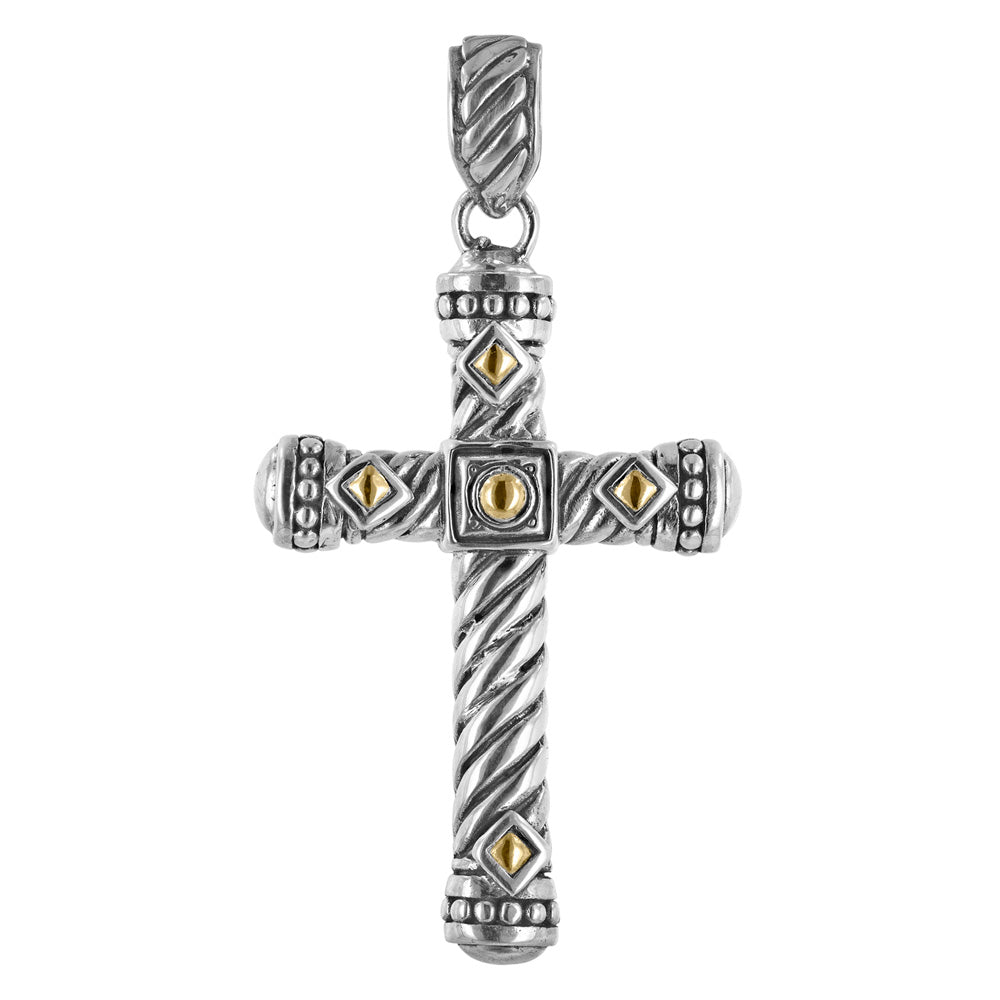 Cable Cross Pendant