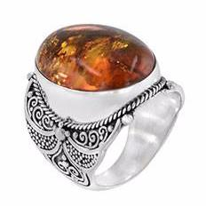 Amber Statement Ring