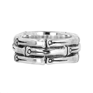Bali Sterlins Silver Bamboo Ring