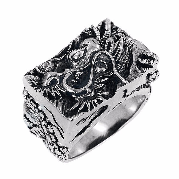 Carved Dragon Ring