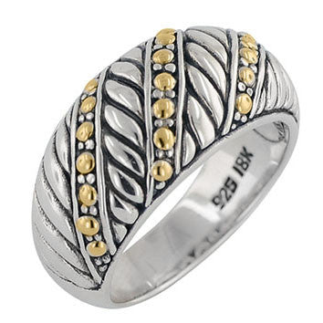 Bali Cable Accented Ring
