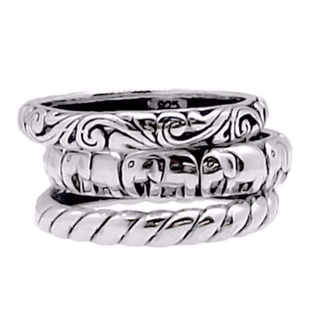 Bali Stackable 3 Ring Set