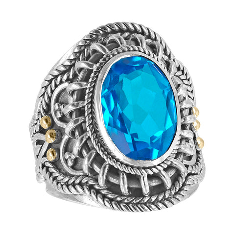 Statement Wirework & Gemstone Ring - More Colors