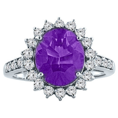 Concave Cut Amethyst Ring