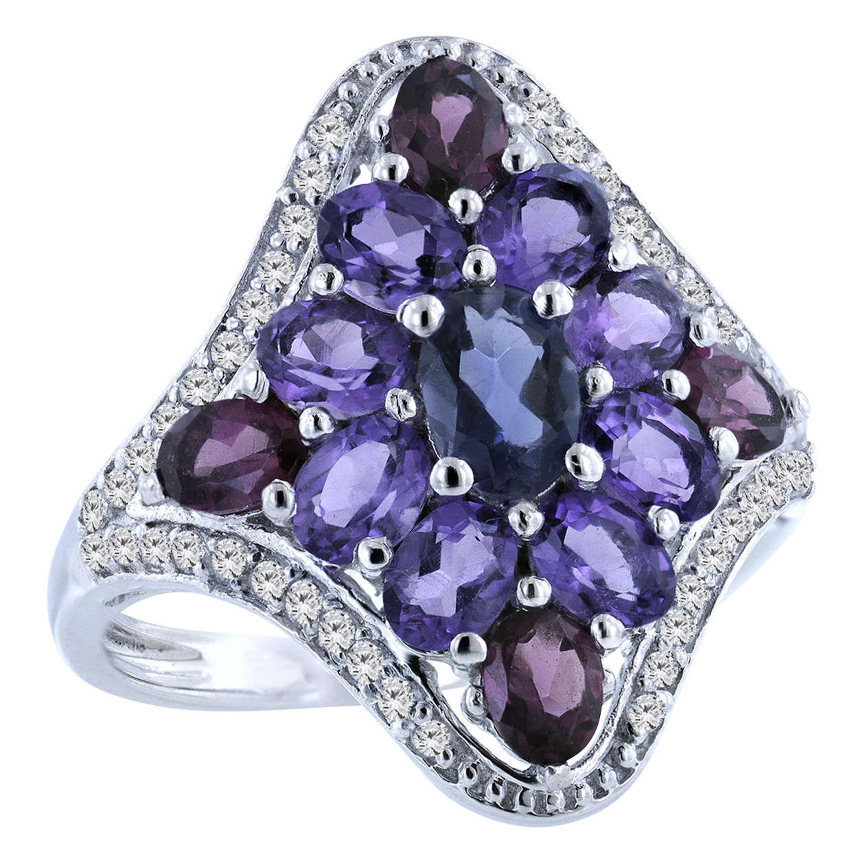 Shades of Violet Ring