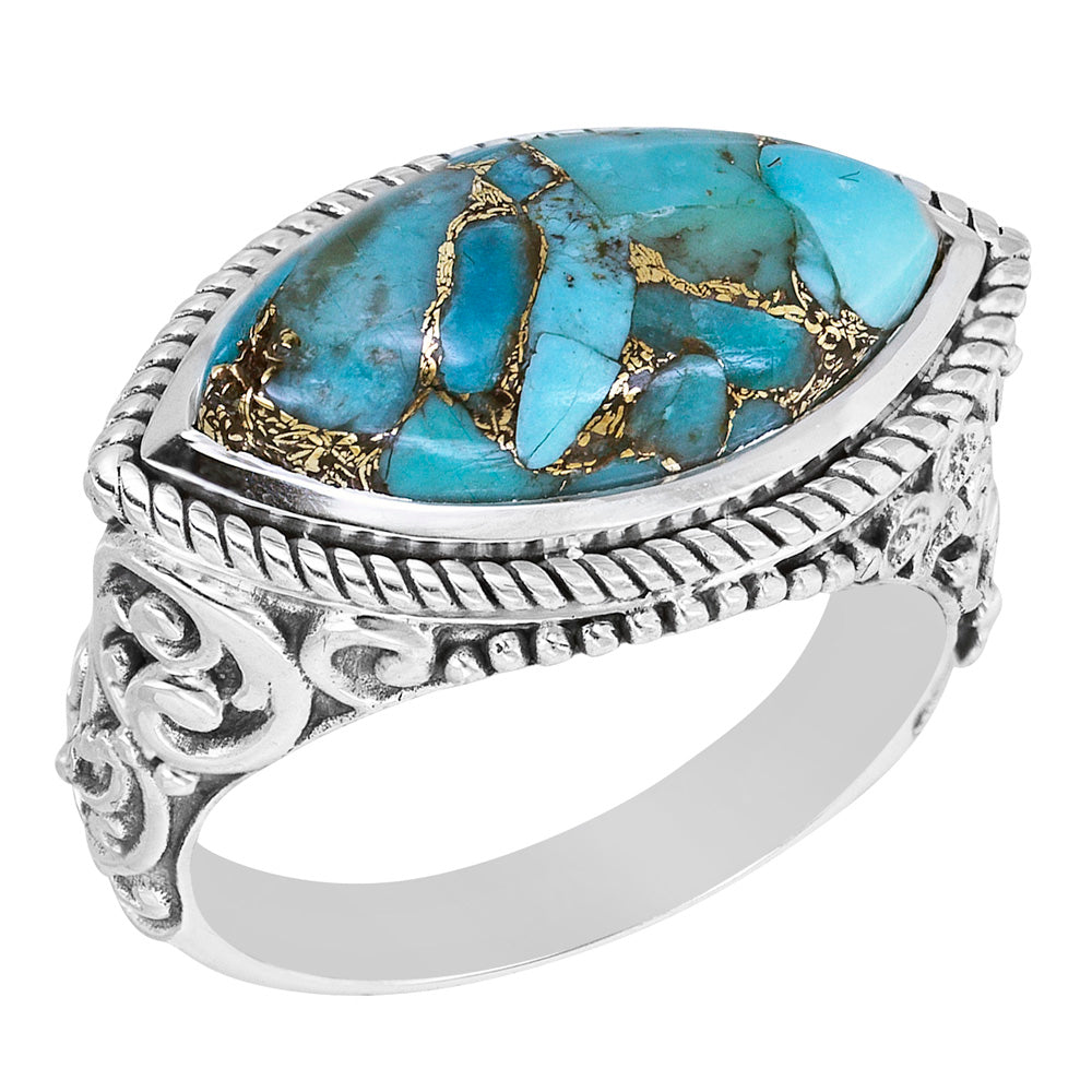 Marquise Mojave Turquoise Ring