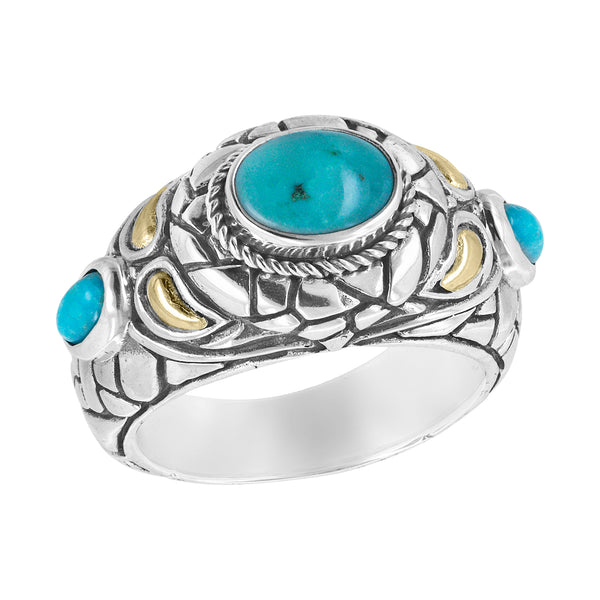Sterling silver cobblestone turquoise ring