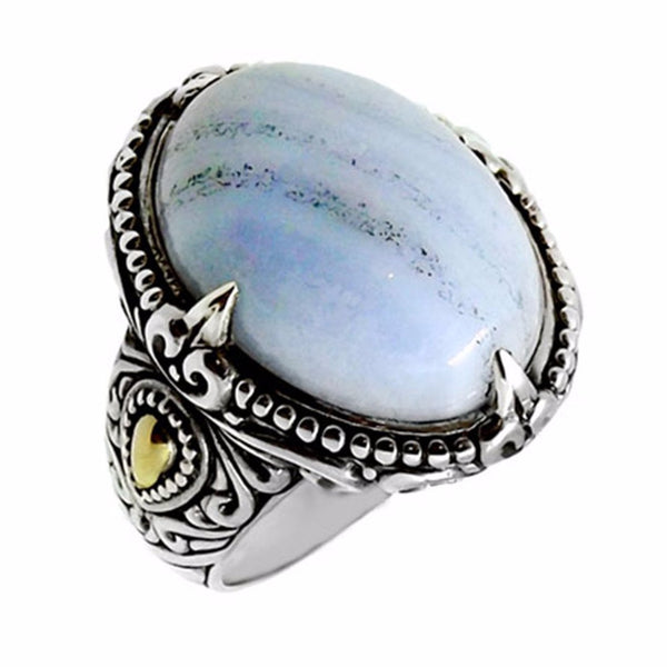 Blue Lace Agate Sweetheart Ring