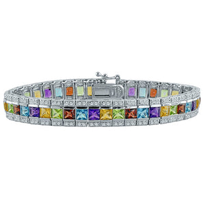 Rainbow Princess Multi Stone Bracelet