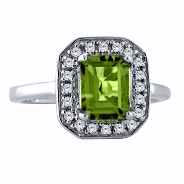 Deco Peridot Cocktail Ring