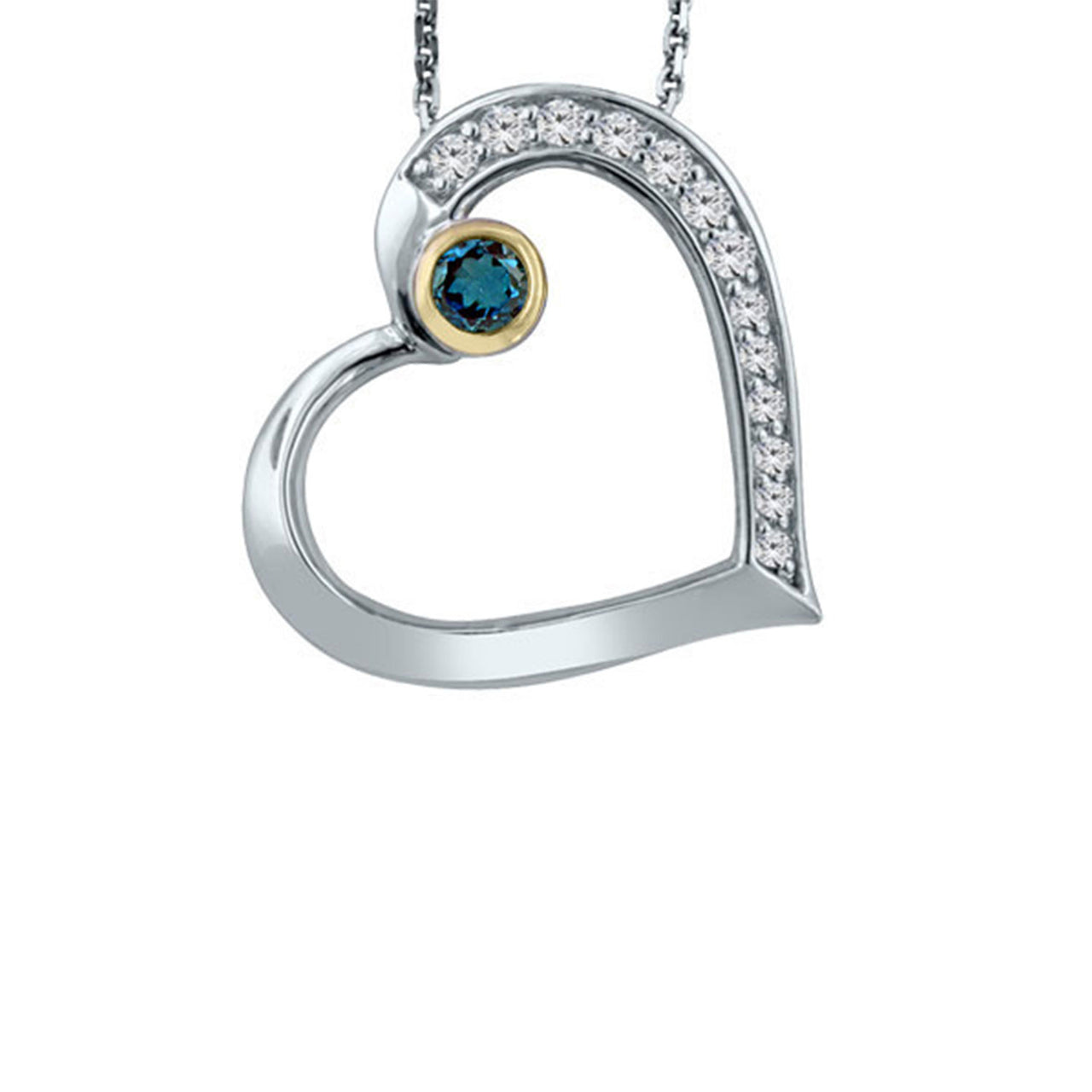 Heart Pendant with London Blue Topaz
