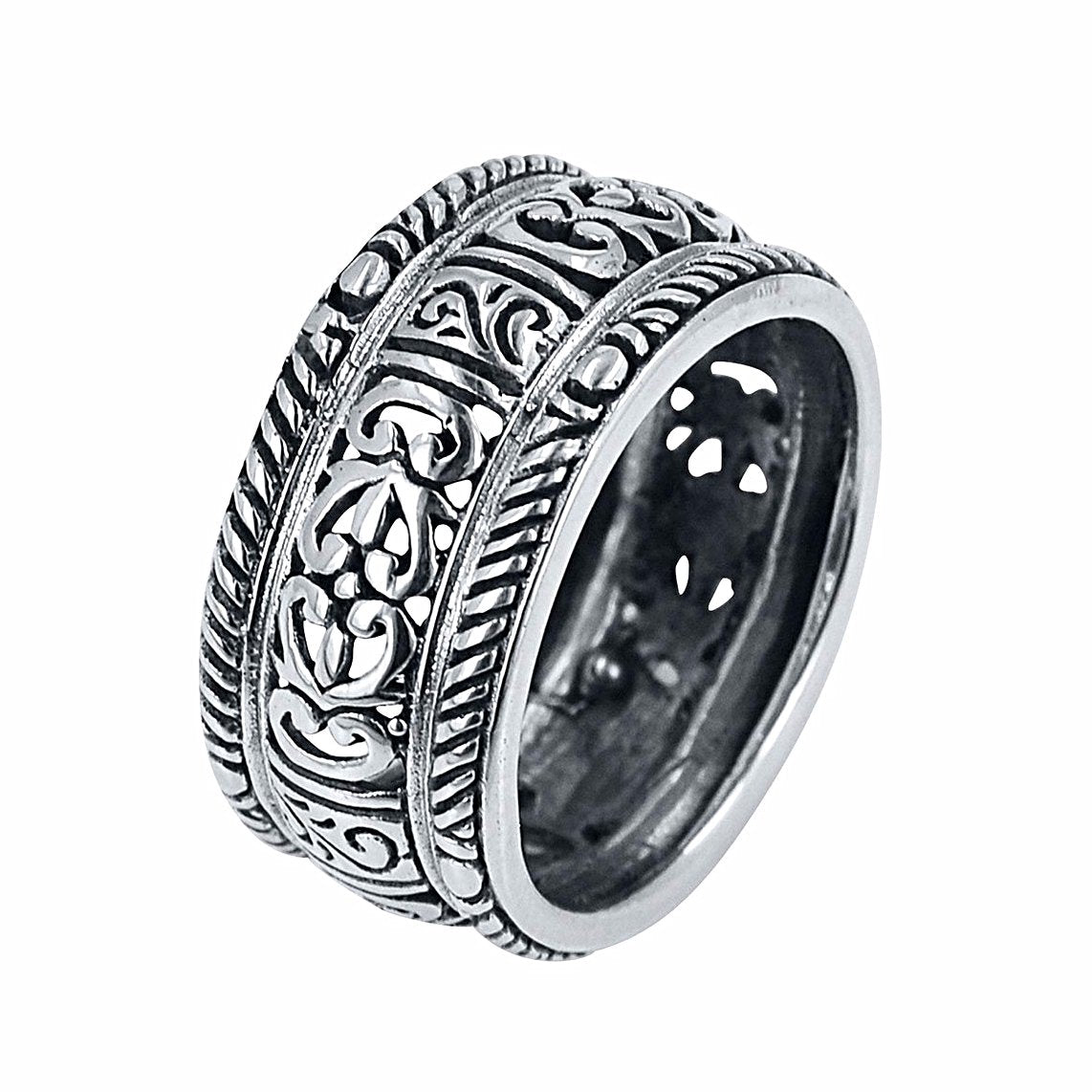 Scrollwork Carved Band Ring