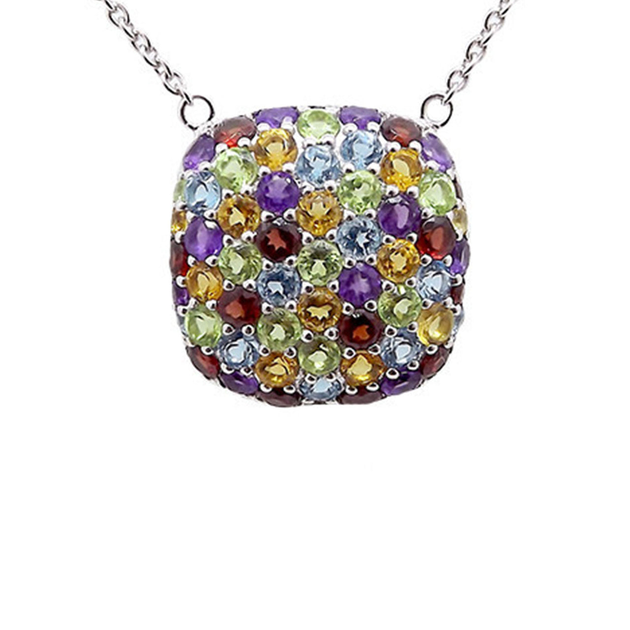 Cushion Multi-Gem Necklace