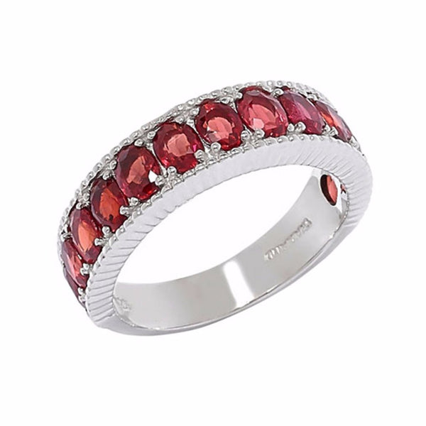 Red Sapphire Gemstone Band Ring
