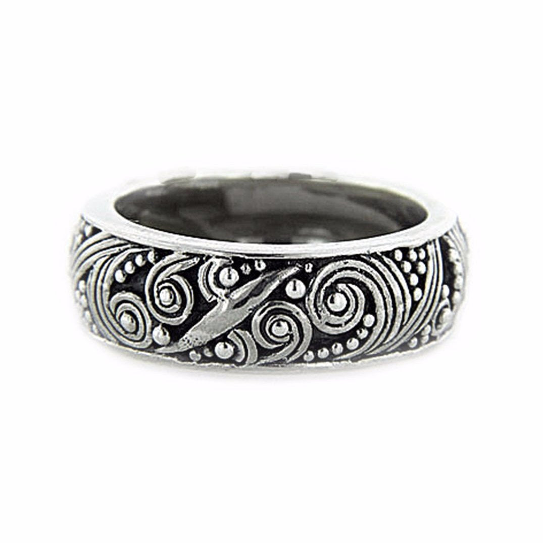 Swirling Scrollwork Band Ring