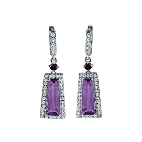 Trapezoid Colorblock Gemstone Earrings - More Colors