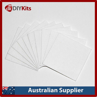 Microwave Kiln Glass Fusing Paper - 20 x 8cm square sheets
