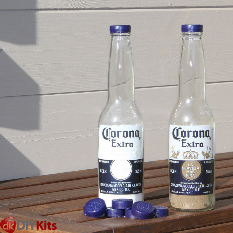 Corona and Bintang bottle caps